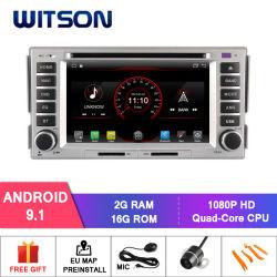 Android Quad-Core Witson 9.0 aluguer de DVD para a Hyundai Santa Fe 2007-2011 2g ROM 16GB de RAM