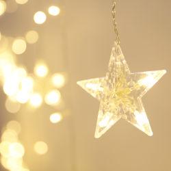 De openlucht In werking gestelde Batterij van de Draad van het Koper Aangedreven fonkelt LEIDENE van Kerstmis van de Fee het Sterrige Licht van het Koord