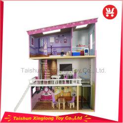 Новый стиль из трех уровней деревянный дом кукла