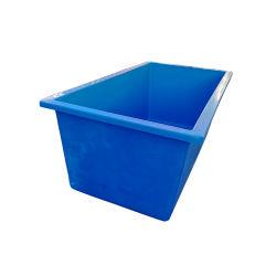 De blauwe Aquicultuur van de Tank van de Vissen van de Glasvezel van de Kleur FRP Rechthoekige