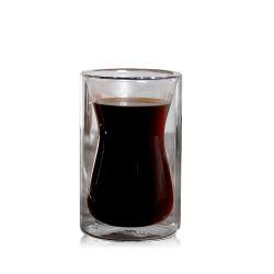 Мини-Size двойные стенки боросиликатного стекла чашки эспрессо, 250 мл чашки кофе из стекла