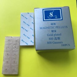 Beschikbaar Steriel Magnetisch Geplateerd korrel-Goud