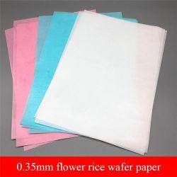 0.35mm sottilmente documento glutinoso della cialda del fiore di carta dello zucchero del documento di riso di cottura di 3 colori di stampa commestibile della decorazione