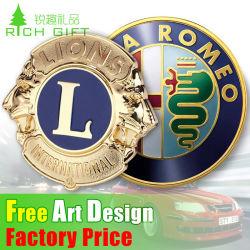 Impression 3D personnalisé promotionnelle Gold silver métal émail emblème du drapeau plastique ABS auto Chrome logo voiture signe d'un insigne de l'épinglette emblème pour la décoration du corps de moto