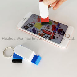 Pulizia multifunzionale Keychain dello schermo del supporto del basamento del telefono della stampa su ordinazione di marchio