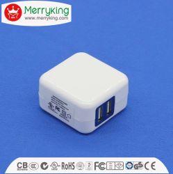 Duas portas USB 5V 2100mA nos dobrável carregador de viagem Universal Plug