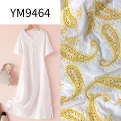 刺繍が付いているYm9464 Ym9467の綿織物