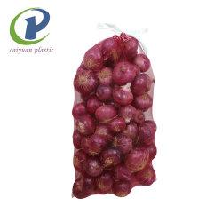 Commerce de gros sac filet organique PP ou PE pour les légumes et Friuts tissé de bois de chauffage