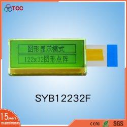 شاشة عرض LCD رسومية بدقة 122X32 نقطة، وحدة LCM للإضاءة الخلفية باللون الأصفر والأخضر مع IC Sdn1661