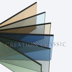 4 мм 5 мм 6 мм стекла плавающего режима темно серого цвета, отражающей тонированное стекло
