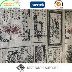 Pes 70%30%C fils teints canapé Nappe Jacquard coloré Fournisseur de tissu décoratif