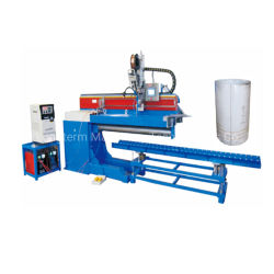 PLC는 액화천연가스 실린더에 의하여 자동화된 TIG MIG 선형 경도 솔기 철사 용접 기계, 경도 용접 Seamer를 통제한다!