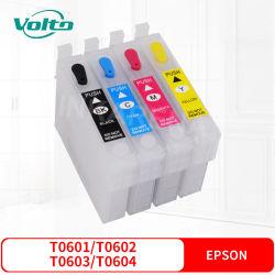 EpsonスタイラスC88 Cx3800 Cx3810 Cx4200 Cx4800 Cx5800f Cx7800のための互換性のあるEpson T0601 T0602 T0603 T0604カラーインクカートリッジ