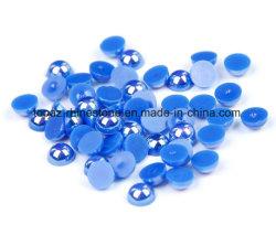 Новый Год подарок Chirstmas плоской нижней части круглого жемчуга пластика ABS в синий цвет сапфира Ab Перл для DIY лак для ногтей, Декор Дизайн