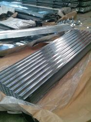 0.12-0.8*665/800/900mm en acier ondulé galvanisé Gi tôle de toit