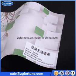 Matériel de publicité comme tissu de soie éco papier mural en tissu, papier peint imprimable numérique