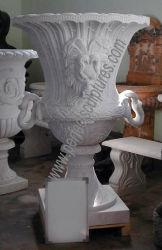 Mão de Obra fina flor da pedra esculpida urna jardim paisagístico do potenciômetro (QFP127)