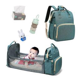 새로운 휴대용 접히는 어린이 침대 아기 기저귀는 다기능 큰 수용량 옥외 어머니 기저귀 부대 책가방을 자루에 넣는다