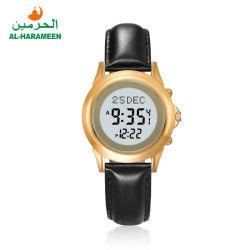 コンパスが付いているAlHarameenの製造業者の革バンドの恋人の祈りの腕時計のAzanの腕時計