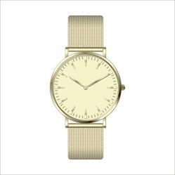 Мода кожаными сапфировое стекло закрывается Gold подарок спортивные мужские часы (DC-1405)
