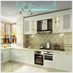 Armário de cozinha lacados Custom-Made decoração estilo Europeu Projecto imobiliário Armário armário de cozinha personalizada de 0321
