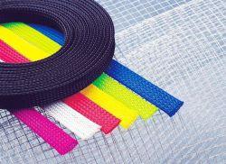 Pet polyester souple extensible maille gaine de câble tressé tube