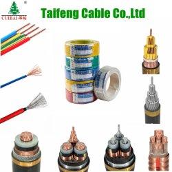 La norma ISO/TUV/CB/Certificado de CCC MV AC DC aislamiento XLPE cobre aluminio funda de goma PVC/eléctrico Cable Eléctrico Cable Eléctrico arriba