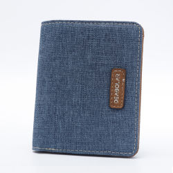 Teenagers Boy MenのためのBlue Fabric Walletカウボーイ
