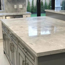 Préfabriqués/artificiel naturel/Engineered Granite/Quartz/marbre Comptoir de cuisine pour l'hôtel Tops de projet