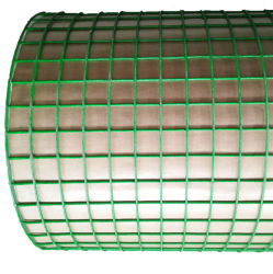 "PVC Plastic gelaste stijve Vogeldraad Mesh Hutches Coop---2"" X 2"" X 60m lang"