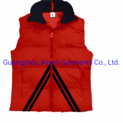 OEM Vestes sans manches courtes hommes femmes Quailted enduire la veste vers le bas (J571)