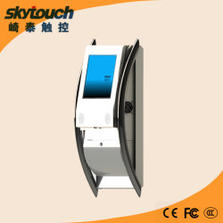 19inch Interactive Touch Screen Wand-Mounted Kiosk mit Barcode Scanner