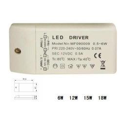 Large plage de tension d'exploitation d'alimentation LED