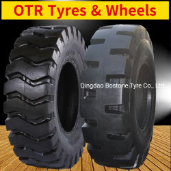 Rim (16.00 18.00 17.5 20.5 23.5 26.5 29.5 25 16/70-20 24)のThe Road Loader Grader Scraper Industrial OTR WheelsおよびTyresを離れた放射状のBias Solid E3l3 L2 L5
