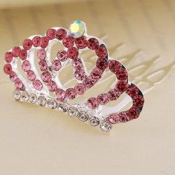 레드 다이아몬드와 크라운 패션 헤어 클로