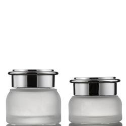 Tratamento de Superfície personalizada Serigrafia 30g 50g Creme Facial conjuntos jarra de vidro de cosméticos
