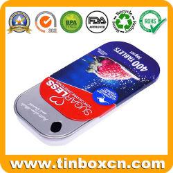 Boîte en métal coulissante personnalisé Mint Tin avec inserts intérieure et faire glisser le haut pour les bonbons de sucreries pilule Medicine