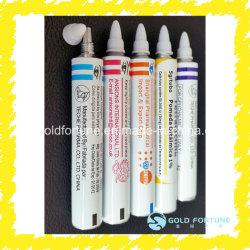 L'onguent médical personnalisé aluminium pliable/tube d'emballage de produits cosmétiques