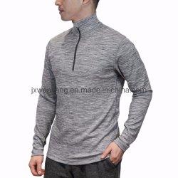 메리노 베이스 레이어 셔츠 남성용 땀 배출 기능과 냄새 방지 메리노 울 지퍼 셔츠