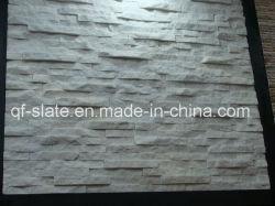 壁のクラッディングまたは屋根ふきのための河北の純粋で白い珪岩のスレートによってスタックされる石