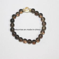 方法自然な煙水晶の水晶ブレスレットの腕輪の宝石類