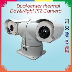 كاميرا حرارية بالأشعة تحت الحمراء الهجين ثنائية المستشعر والكاميرا Daylight لـ 5 كم المراقبة