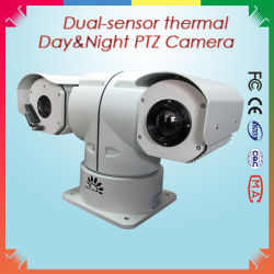 5km Surveillance를 위한 이중 Sensor Hybrid IR Thermal와 Daylight Camera