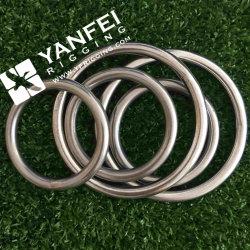 Metallo saldato intorno al giunto circolare dell'anello