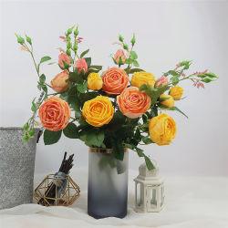 신부 결혼식 꽃다발 중앙 장식품 당 홈 장식을%s 실제적인 보는 장미 꽃