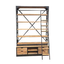 Uitstekende Industriële Boekenkast met Ladder
