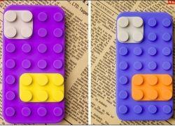 Творческие здание блок Cute Sillicon чехол для iPhone 4G/4s