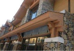 Placa de fibra de cimento de grãos de madeira Casa prefabricados parede exterior