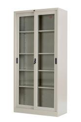Utilisation de bureau porte coulissante en verre armoire métallique