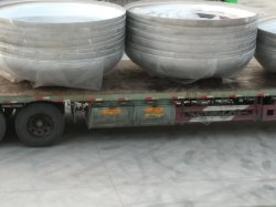 Cer-PED zugelassener Edelstahl richten Schutzkappen für Nahrungsmittelmaschinerie-Druckbehälter-pharmazeutischen Maschinerie-Bier-Geräten-Sammelbehälter durch Colding Forming an